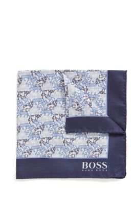 Bow tie and scarf gift set in silk jacquard, Black