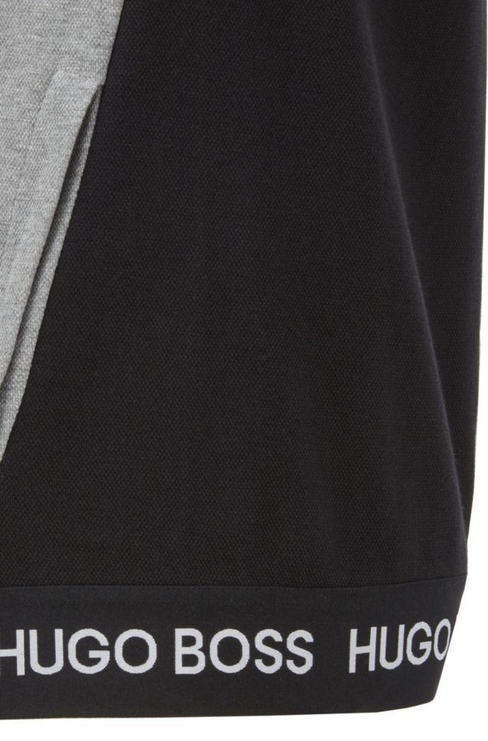 Regular-fit loungewear sweatshirt in cotton-piqué jacquard