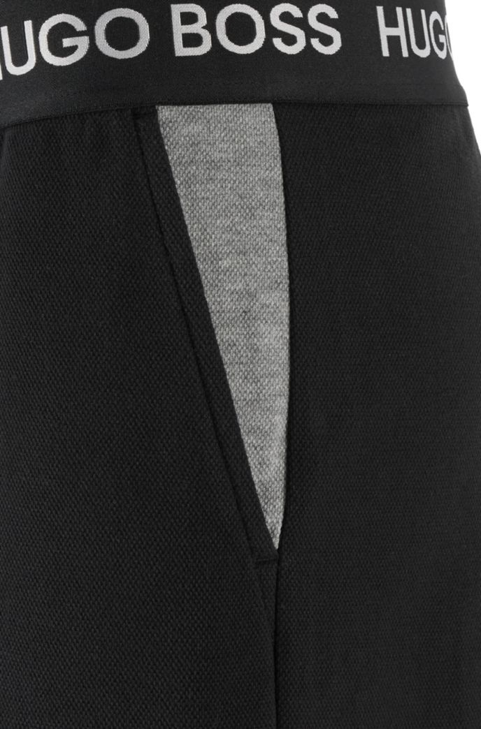 Loungewear shorts in cotton piqué with logo waistband