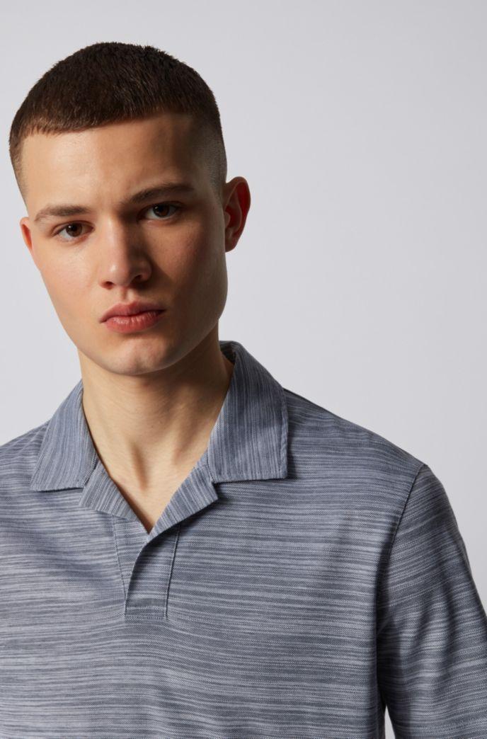 Johnny-collar polo shirt in cotton piqué