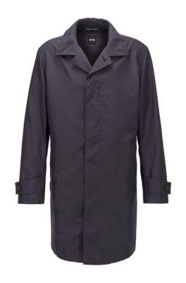 Packable car coat in water-repellent fabric, Dark Blue