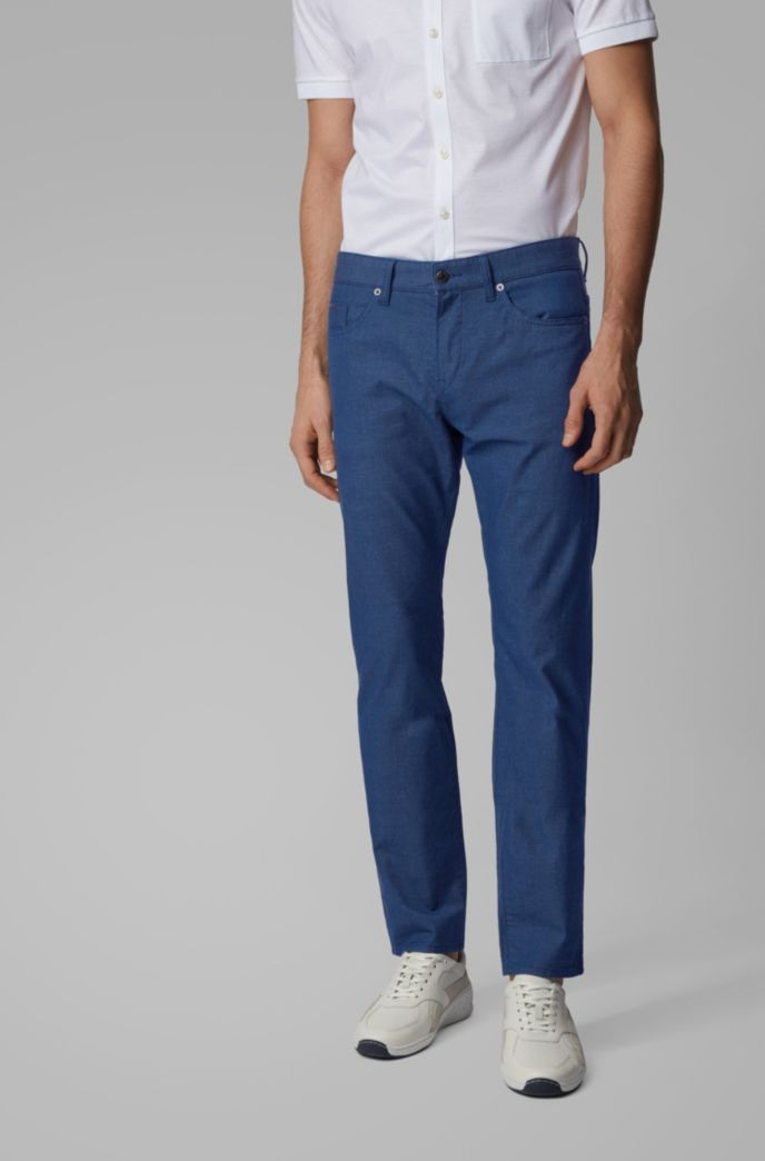 Slim-fit jeans in structured stretch cotton