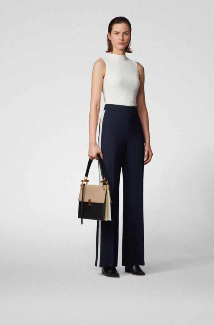 Medium Kristin shoulder bag in color-block Italian leather