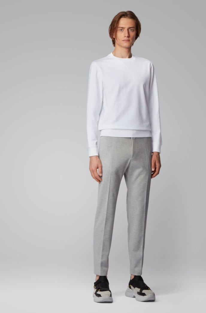 Crew-neck sweater in French terry