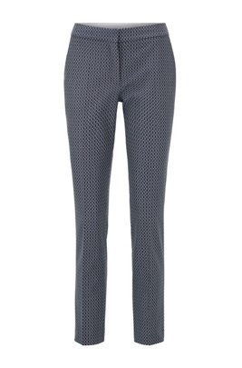 Regular-fit pants with jacquard-woven monogram motif, Patterned
