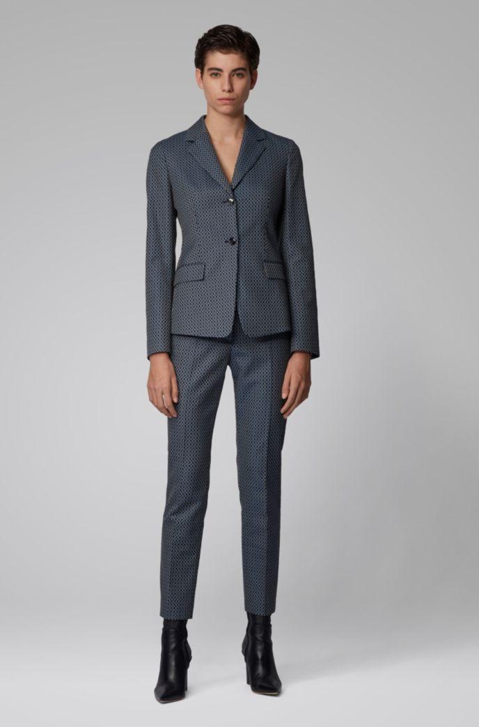 Regular-fit pants with jacquard-woven monogram motif
