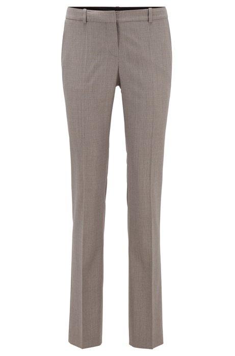 Regular-fit pants in patterned virgin wool, Patterned