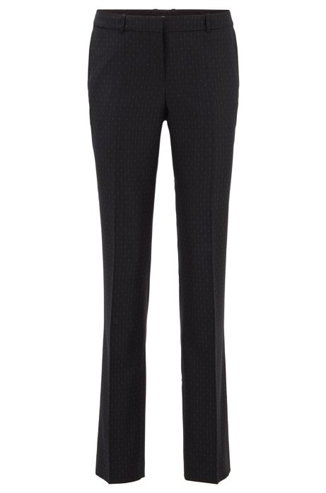 Regular-fit pants with irregular pinstripe, Patterned