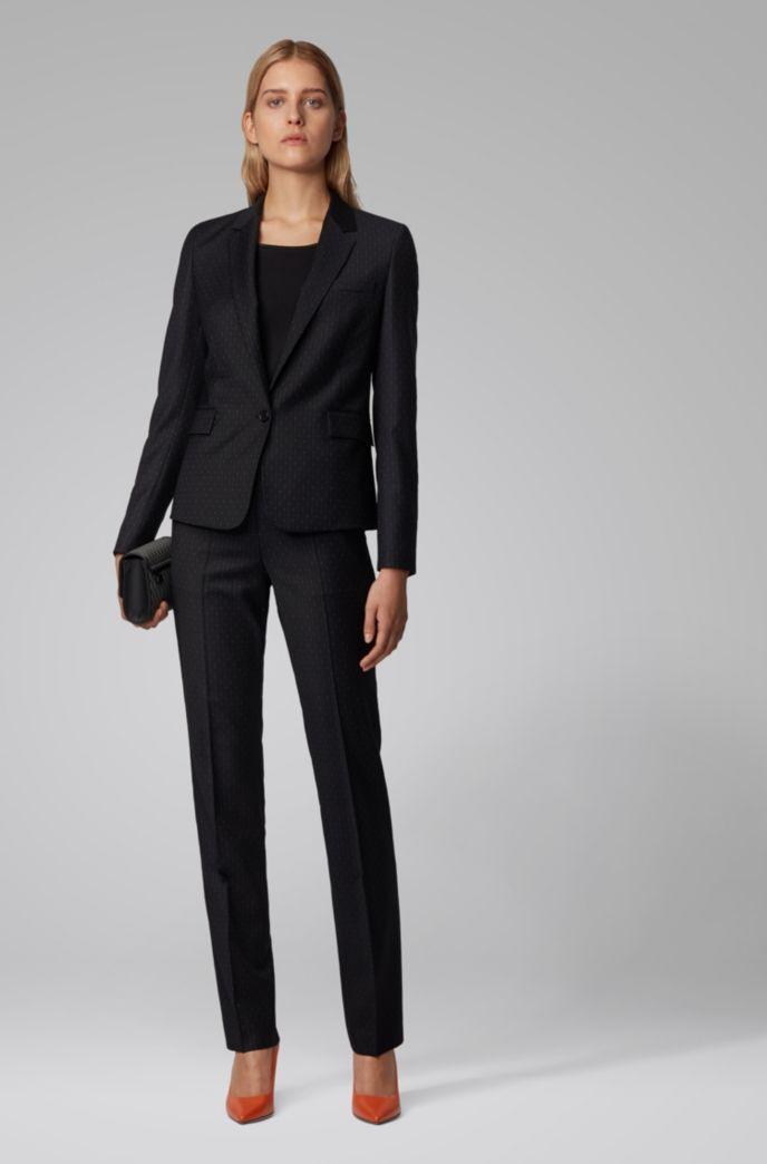 Regular-fit pants with irregular pinstripe