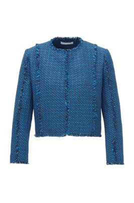 Regular-fit jacket in two-tone tweed, Patterned