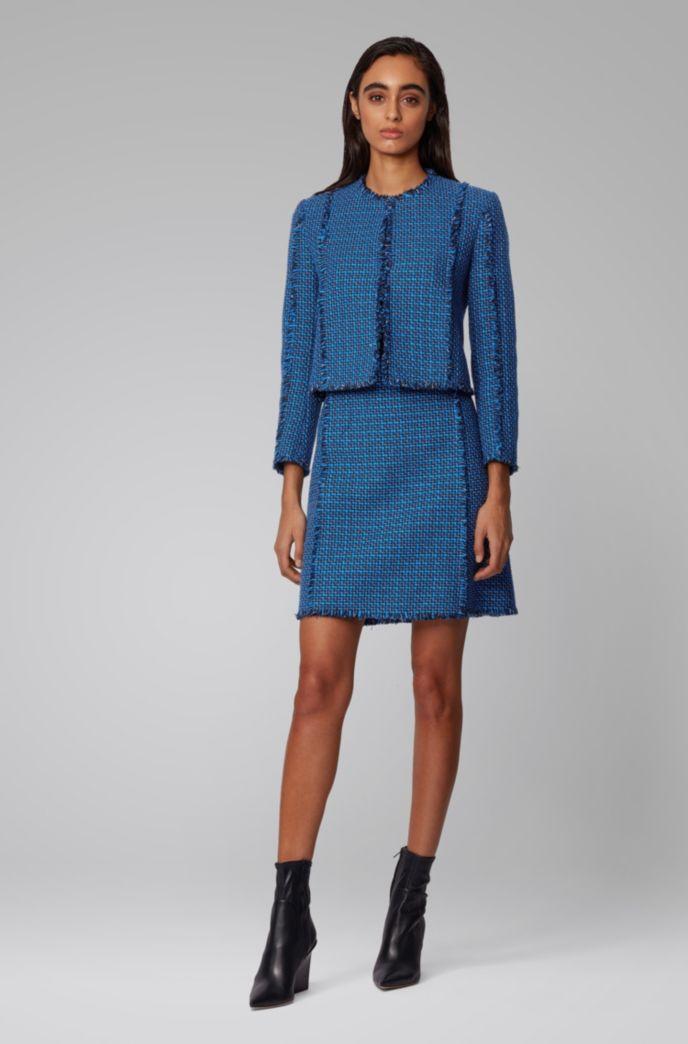 Regular-fit jacket in two-tone tweed