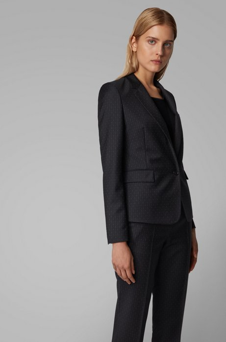 Regular-fit jacket in patterned stretch fabric, Patterned