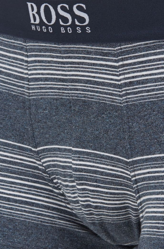 Stretch-cotton trunks with jacquard-woven stripes