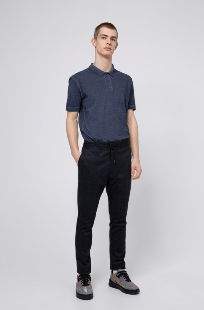 Garment-dyed polo shirt in Recot2® cotton