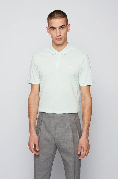Regular-fit polo shirt in Pima-cotton piqué, Light Green