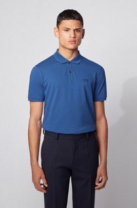 Regular-fit polo shirt in Pima-cotton piqué, Light Blue