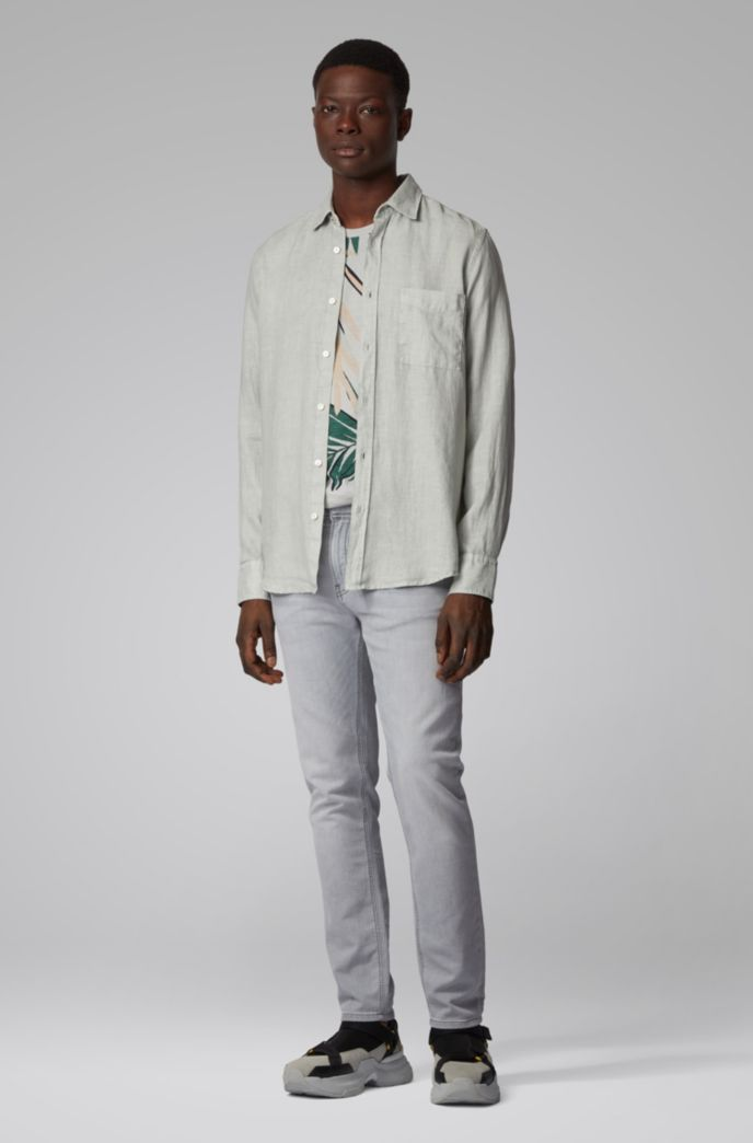 Safari-print T-shirt in slub cotton jersey