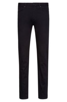 Slim-fit jeans in rinse-washed stretch denim, Black