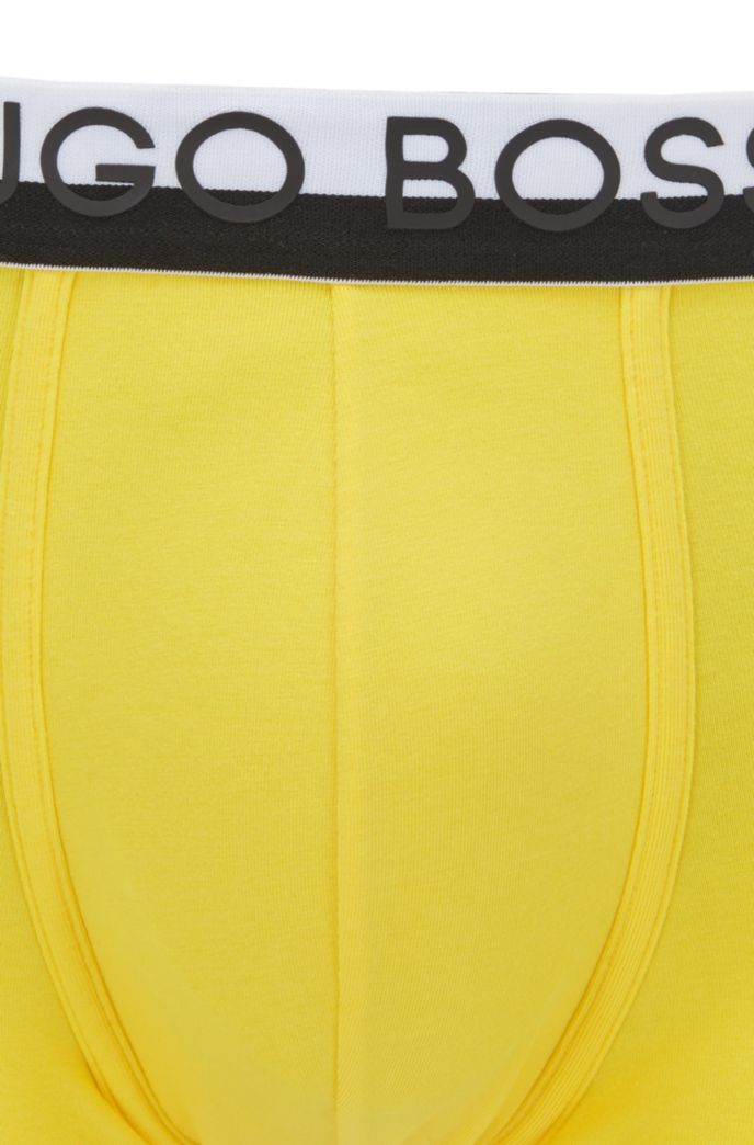 Regular-rise stretch-jersey trunks with logo waistband