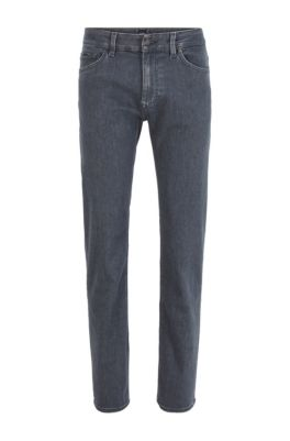Regular-fit jeans in super-soft gray stretch denim, Grey