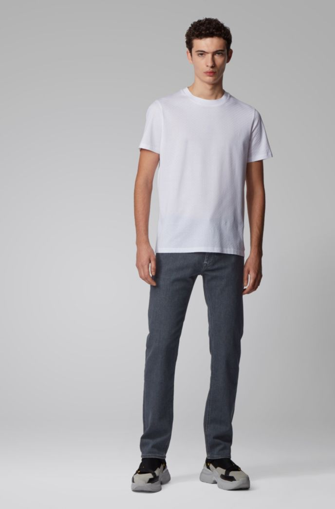 Regular-fit jeans in super-soft gray stretch denim