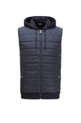 Hooded gilet with lightweight padding, Dark Blue