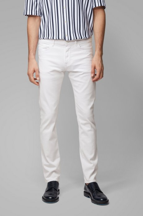 Slim-fit jeans in super-soft white denim, White