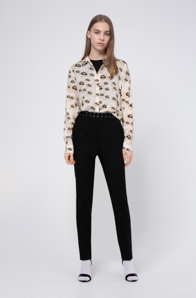 Regular-fit blouse with collection-themed print