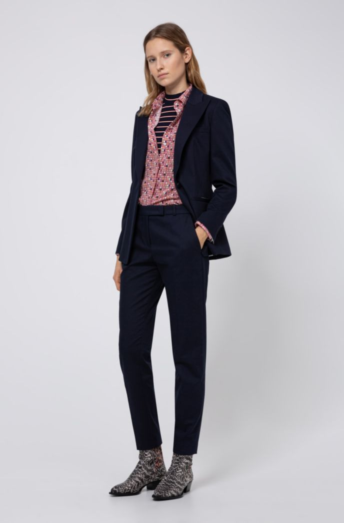Washed-silk blouse with window-inspired print