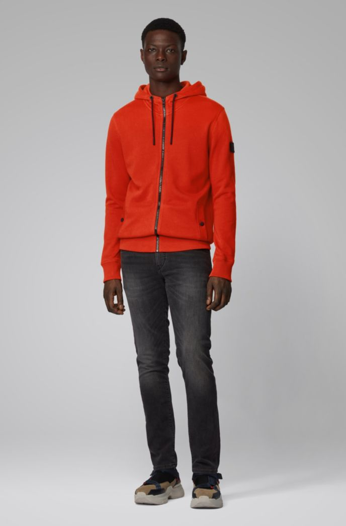 Relaxed-fit hooded sweatshirt in cotton terry