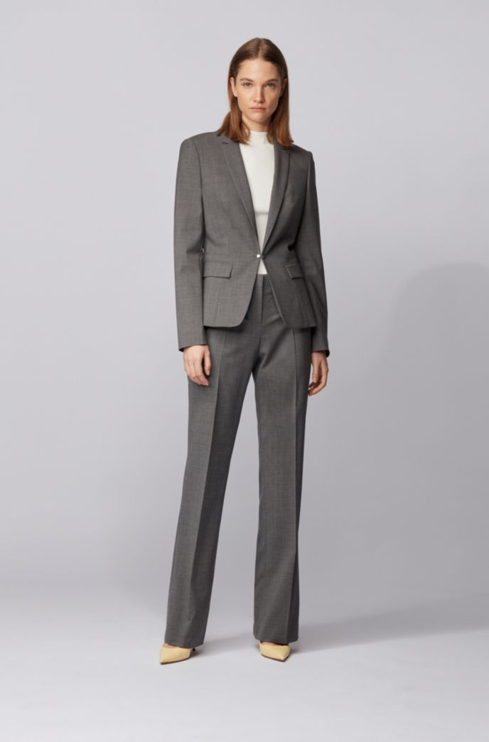 Regular-fit jacket with cufflink closure and silky lining