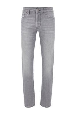 Regular-fit jeans in grey super-stretch denim, Grey
