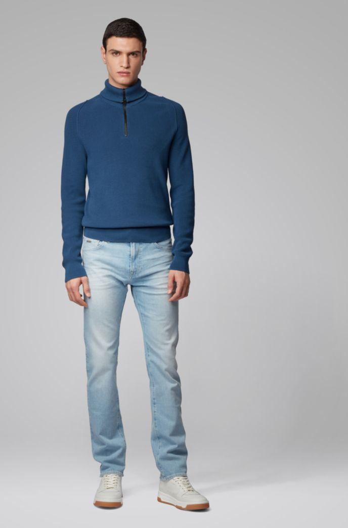 Regular-fit jeans in light-blue comfort-stretch denim