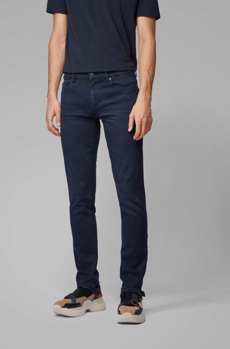 Skinny-fit jeans in dark-blue super-stretch denim, Dark Blue