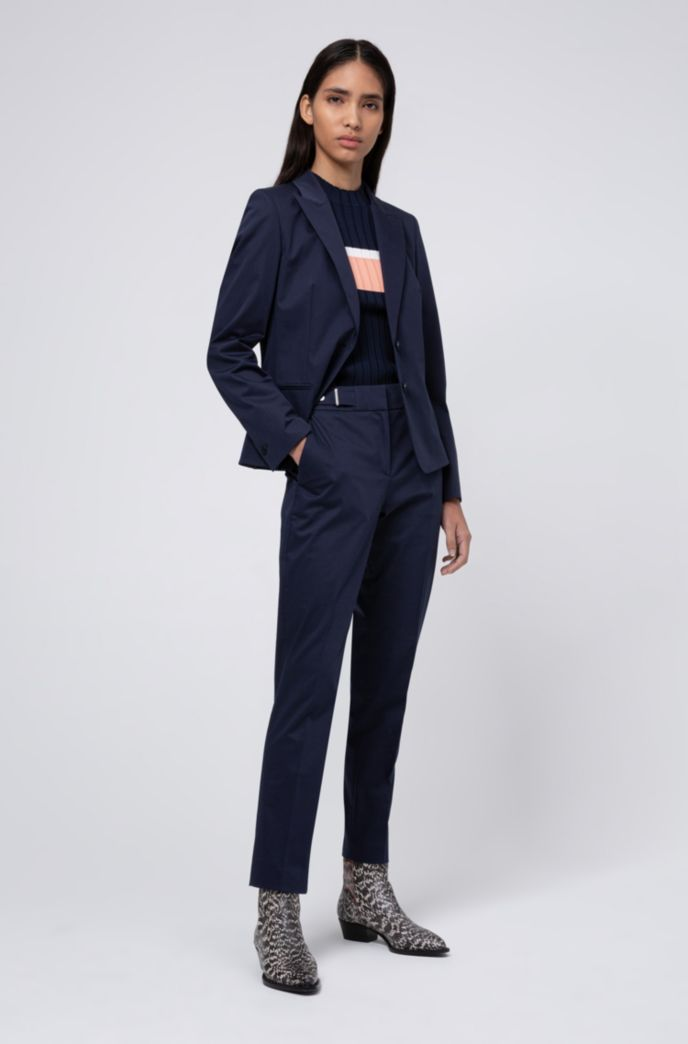 Regular-fit jacket in stretch cotton