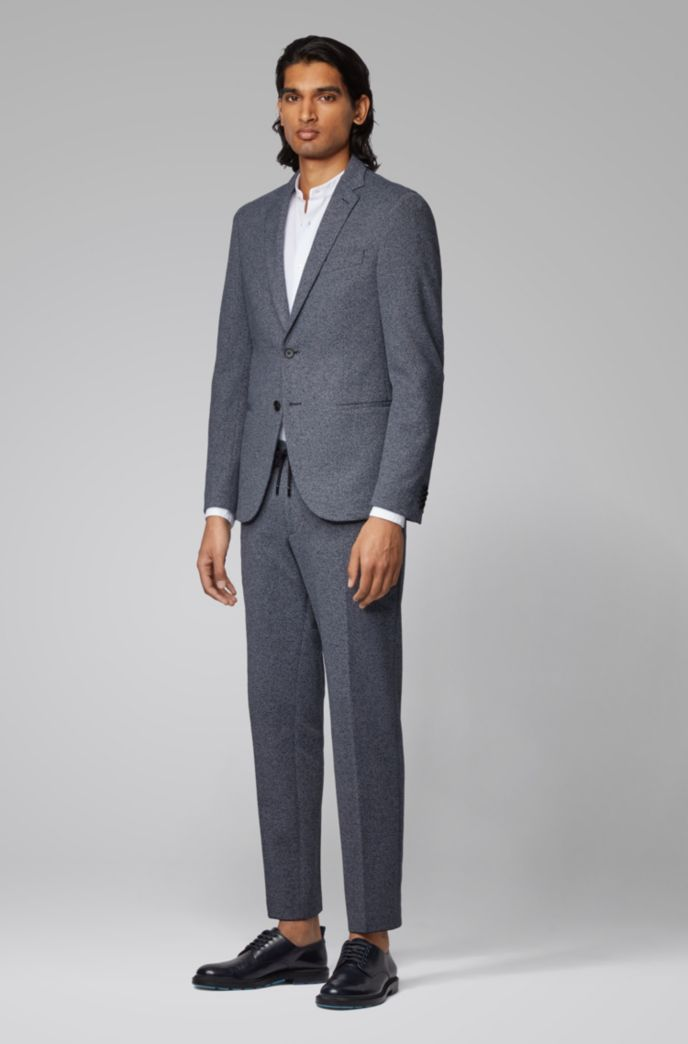 Slim-fit pants with elasticated waistband and drawstring