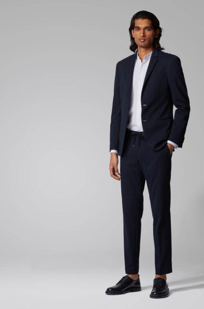 Slim-fit pants with a drawstring waist