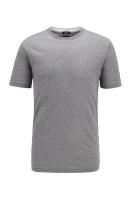 Slim-fit T-shirt in silk-blend vanisee, Grey