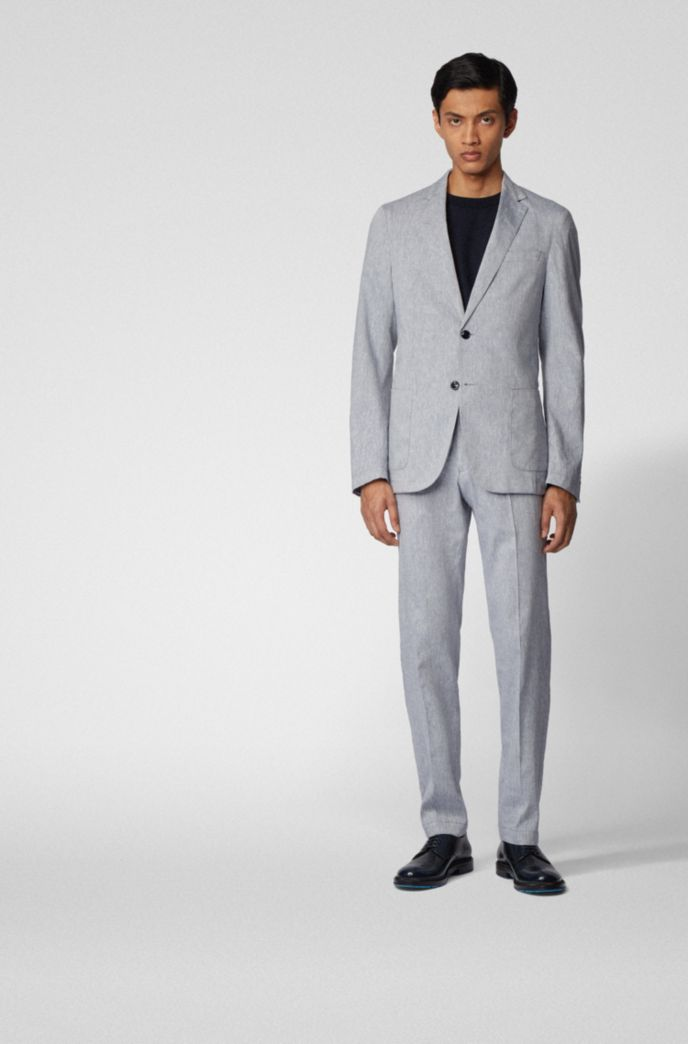 Slim-fit jacket in a stretch-linen blend
