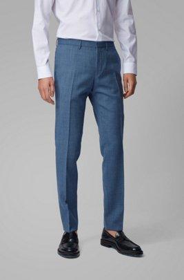 Extra-slim-fit pants in virgin-wool serge, Light Blue