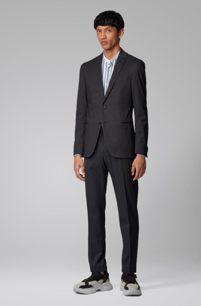 Slim-fit pants in a cotton blend