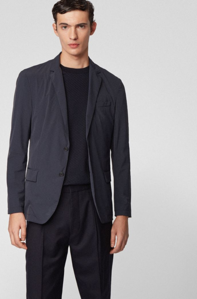 Slim-fit jacket in stretch fabric with notch lapels