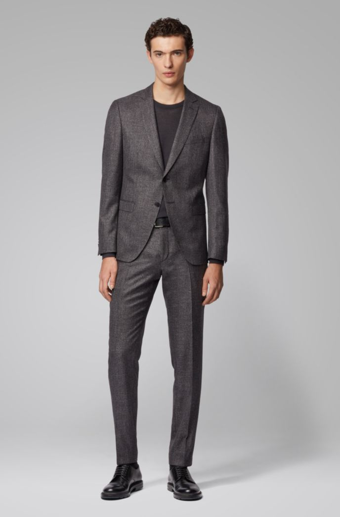 Extra-slim-fit suit in a patterned wool blend