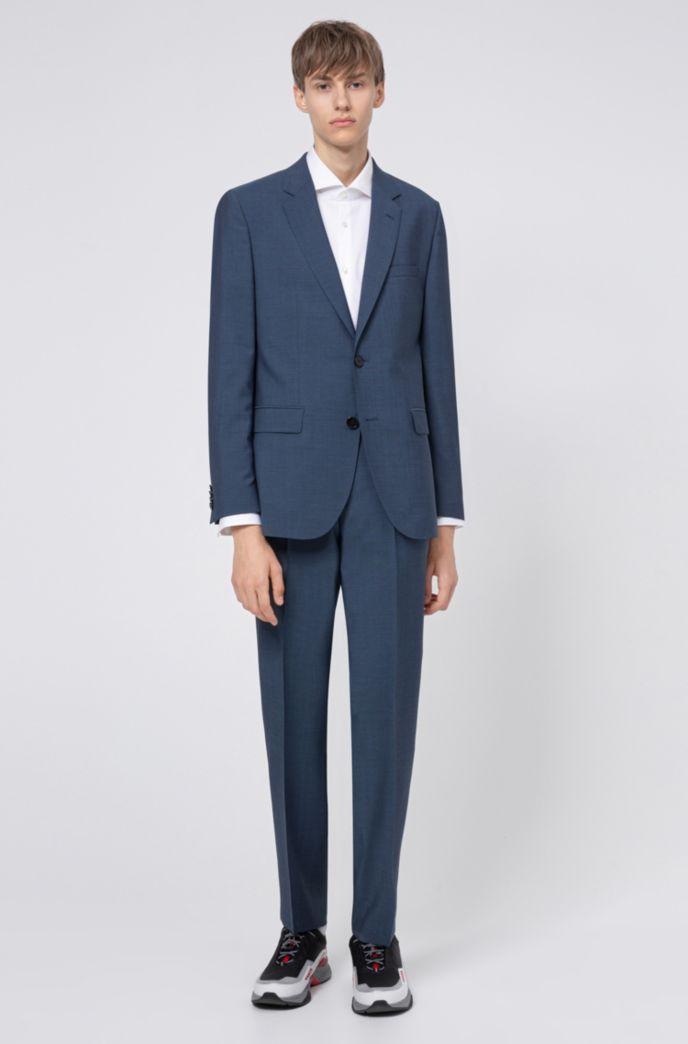 Regular-fit jacket in textured-look virgin wool