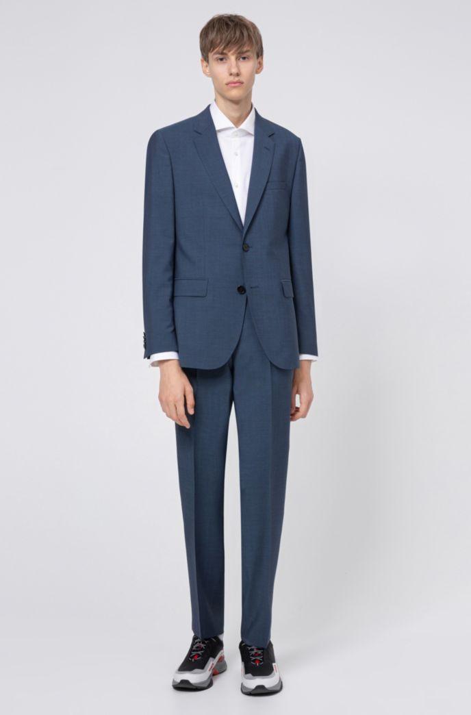 Regular-fit pants in textured-look virgin wool