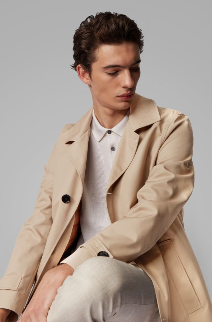 Regular-fit coat with removable padded lining
