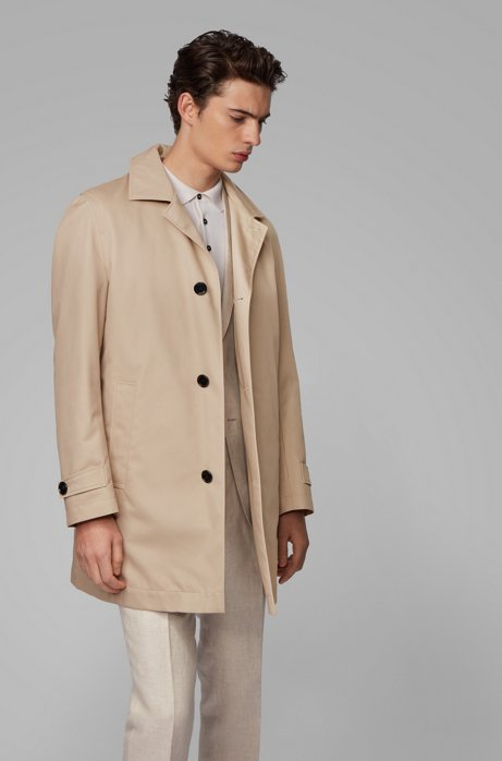 Regular-fit coat with removable padded lining, Light Beige