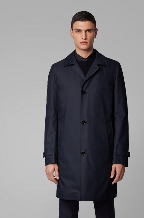 Regular-fit coat with removable padded lining, Dark Blue