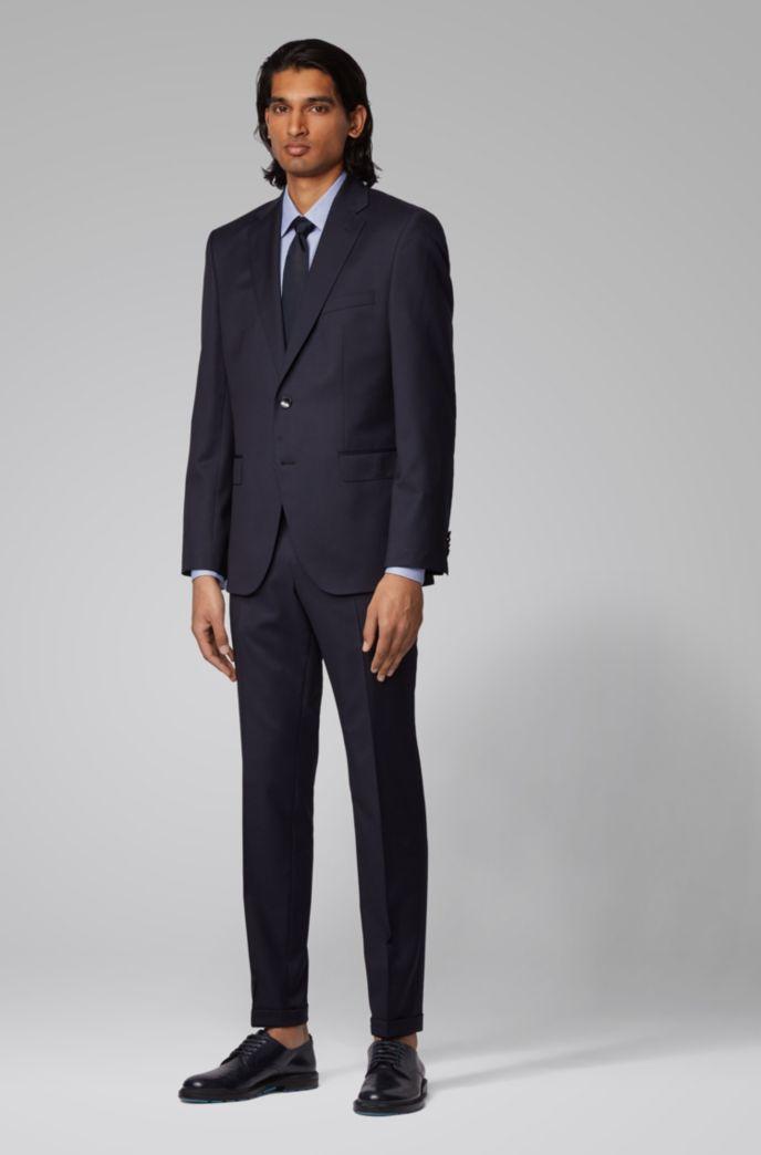 Slim-fit shirt in crease-resistant pepita cotton