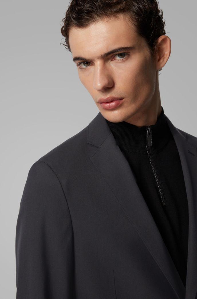 Slim-fit jacket in stretch fabric